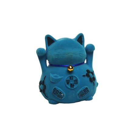 Chat maneki neko bleu