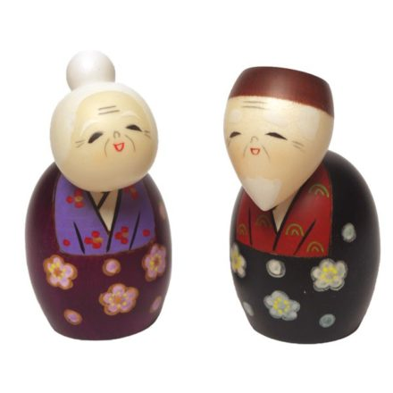 Kokeshi japonaise couple