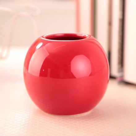Vase rond rouge